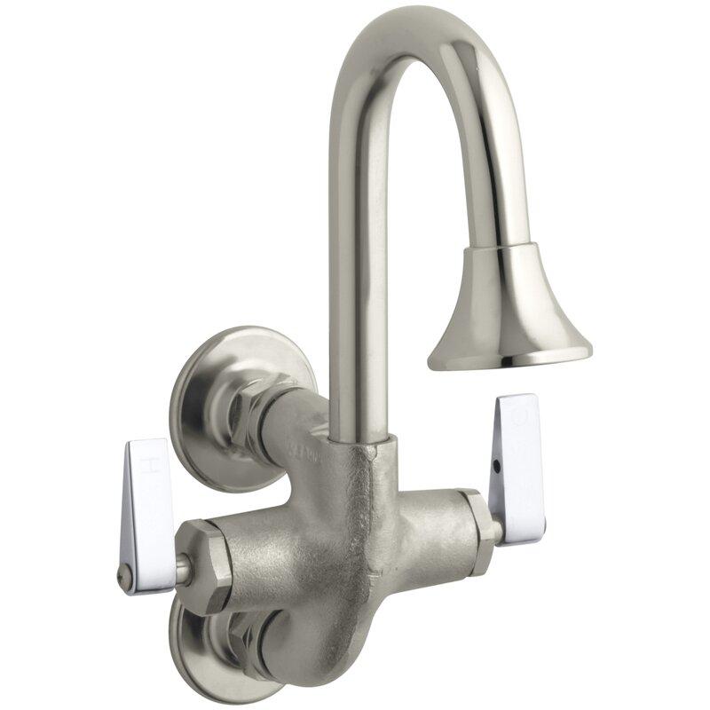 K-8892-RP Kohler Cannock Wall Mounted Bathroom Faucet