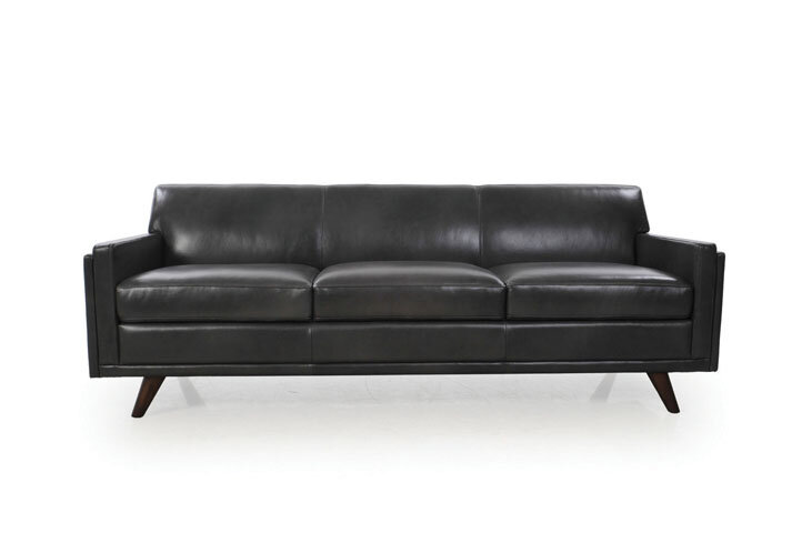 Fabulous Ari Genuine Leather Modern Leather Sofa Gmtry Best Dining Table And Chair Ideas Images Gmtryco