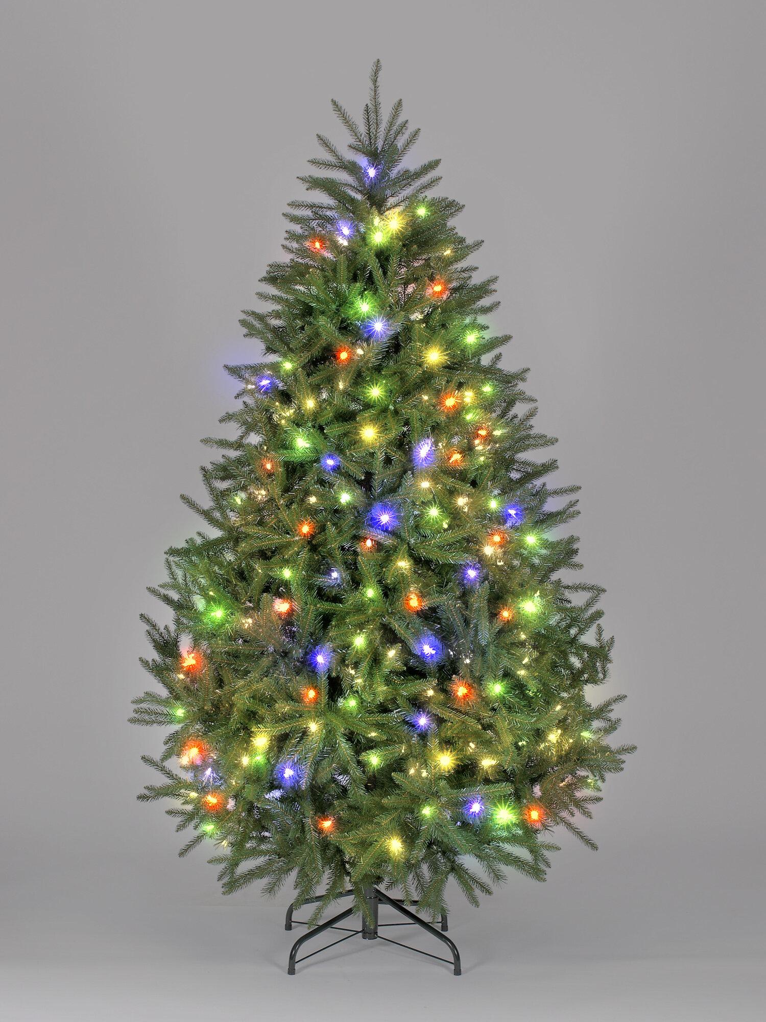 Hometime Snowtime 6.6\' Green Pre-Lit Carolina Pine Artificial ...
