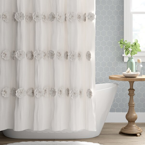 Cream Ruffle Shower Curtain Wayfair