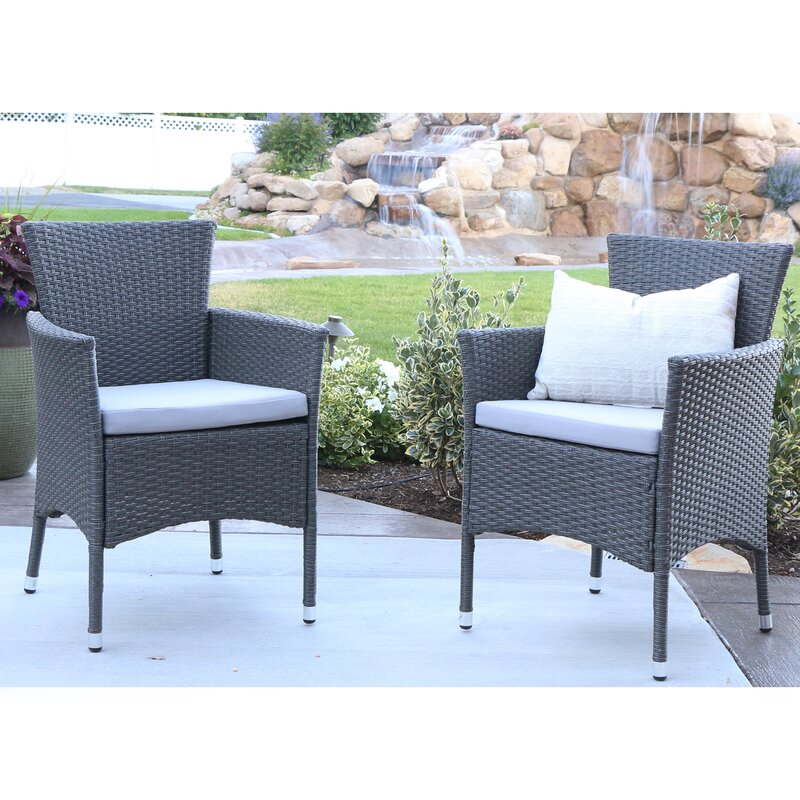 baxter patio dining chair with cushion set of 2