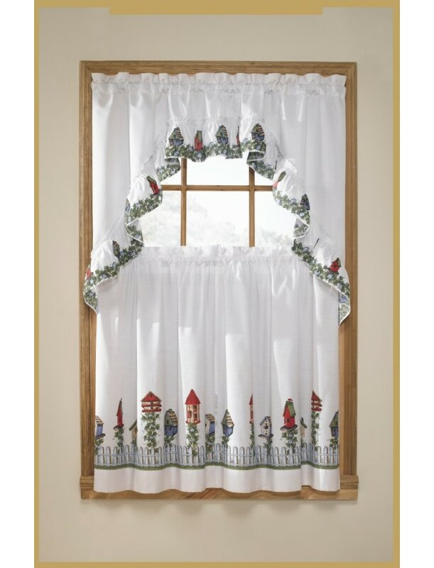 Birdhouse Kitchen Curtains Best Decoration