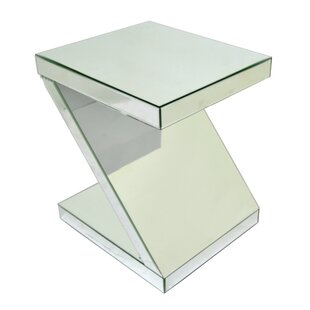 Price Check Mirrored End Table by Three Hands Co.