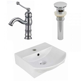 Ceramic 13.75 Bathroom Sink with Faucet and Overflow ByRoyal Purple Bath Kitchen
