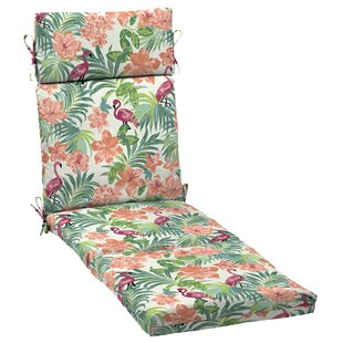 Flamingo Tropical Outdoor Chaise Lounge Cushion