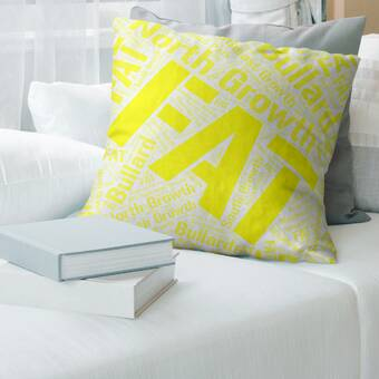 East Urban Home Texas Districts Word Art Leather Lumbar Pillow Cover Wayfair