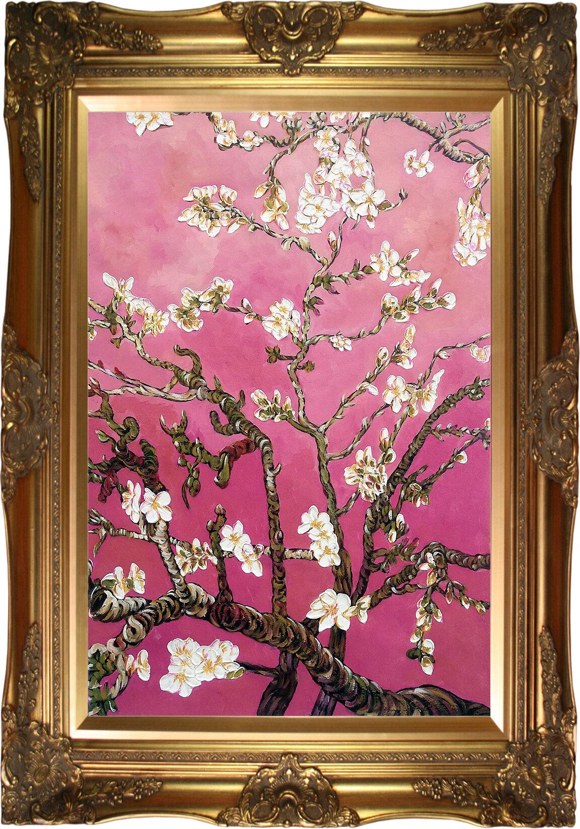 La pastiche almond blossoms vertical pearl pink by vincent van la pastiche almond blossoms vertical pearl pink by vincent van gogh framed painting wayfair mightylinksfo