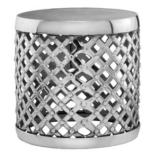 Aluminum Round Drum Stool by Modern Day Accents