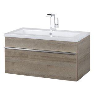 trough 30 wall mounted single bathroom vanity set - Wall Mounted Bathroom Sink