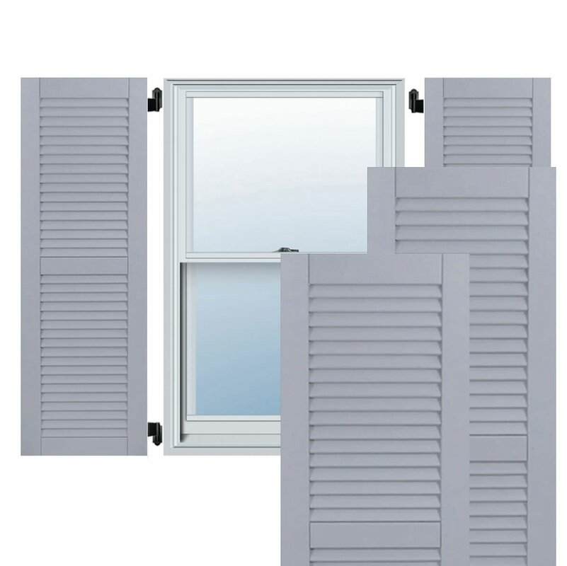 Ekena Millwork Exterior Composite Wood Louvered Shutter & Reviews ...