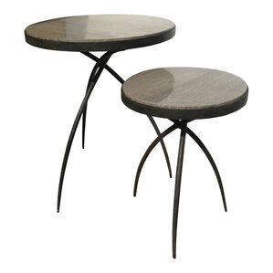 Tripod End Table with Marble Top by Global V..