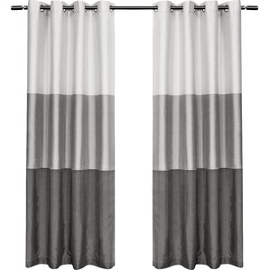 Newton Striped Room Darkening Grommet Curtain Panels (Set Of 2)