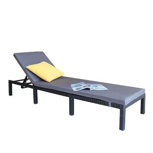 Anthonyville Outdoor Adjustable Reclining Chaise Lounge with Cushion