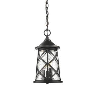 Gracie Oaks Evangeline 3-Light Outdoor Hanging Lantern