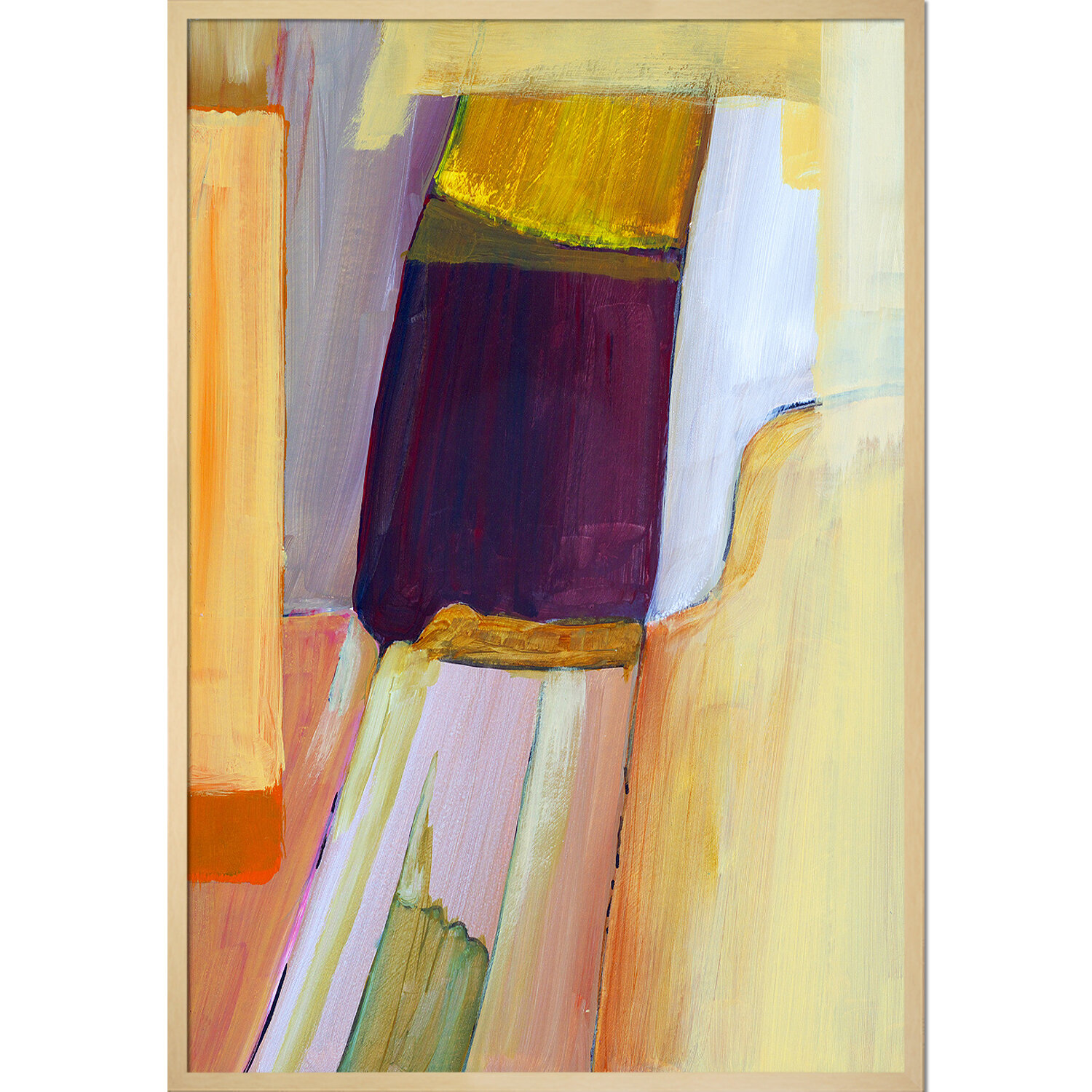 Tori Home Artisbe An Abstract Composition By Clive Watts Wrapped Canvas Painting Print Wayfair