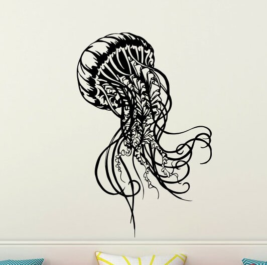 Wall Tattoo Wall Sticker hallway living room bathroom nursery Jellyfish