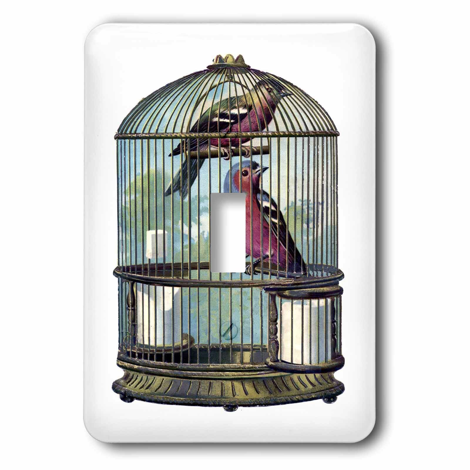 3drose Birds In Victorian Cage 1 Gang Toggle Light Switch Wall Plate Wayfair