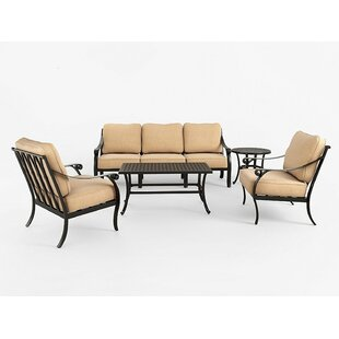 Johnnie 5 Piece Sofa Seating Group with Sunbrella Cushions