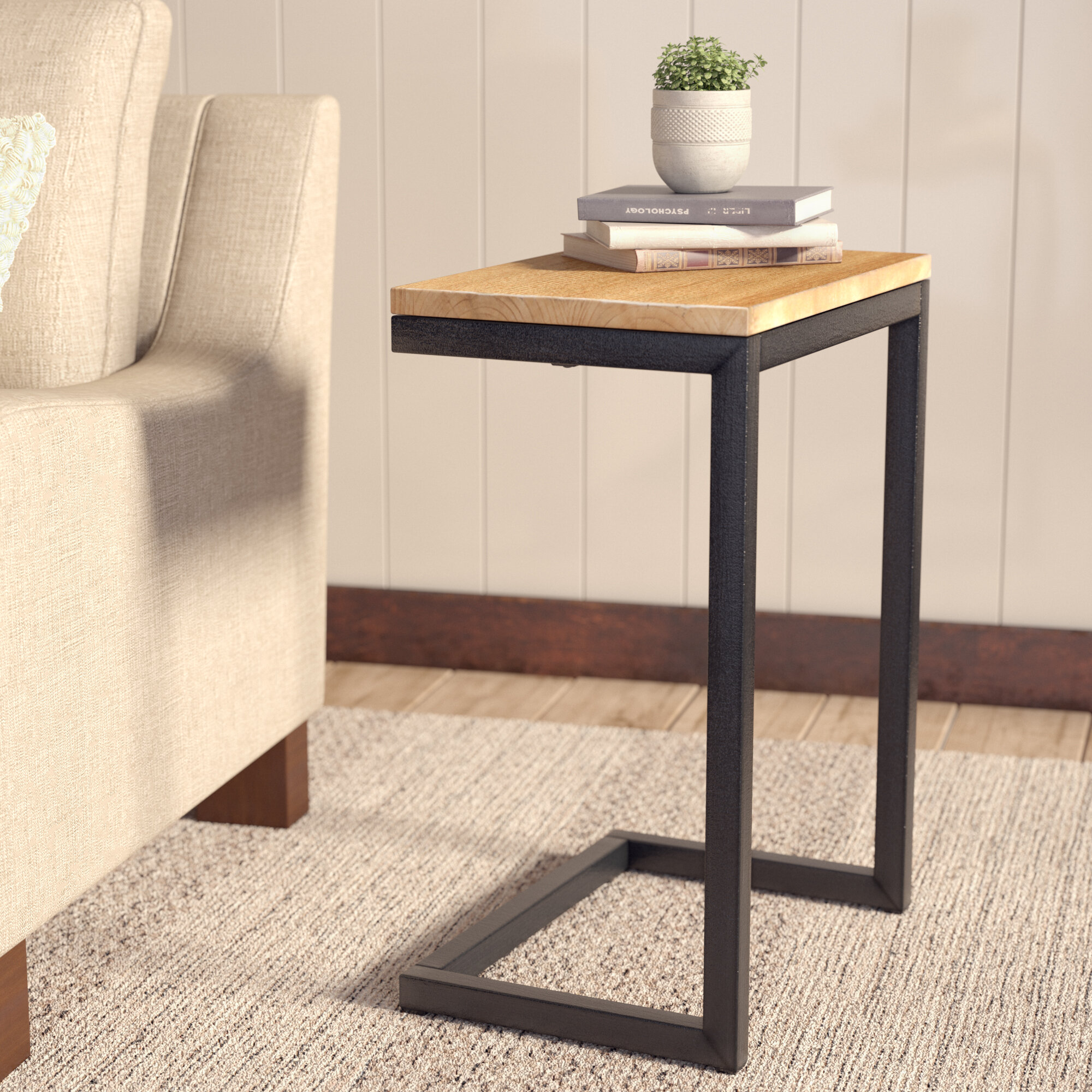 c shaped rustic sharleen pdx end wayfair furniture table union