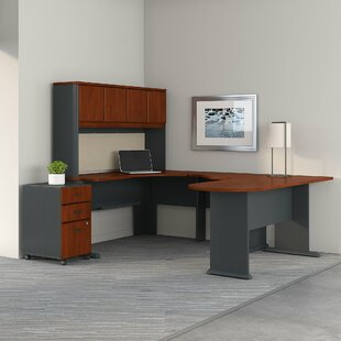 Series A Corner 3 Piece U-Shaped Desk Office Suite by Bush Business Furniture Herry Up