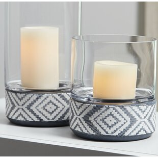 2 Piece Ceramic Votive Holder Set