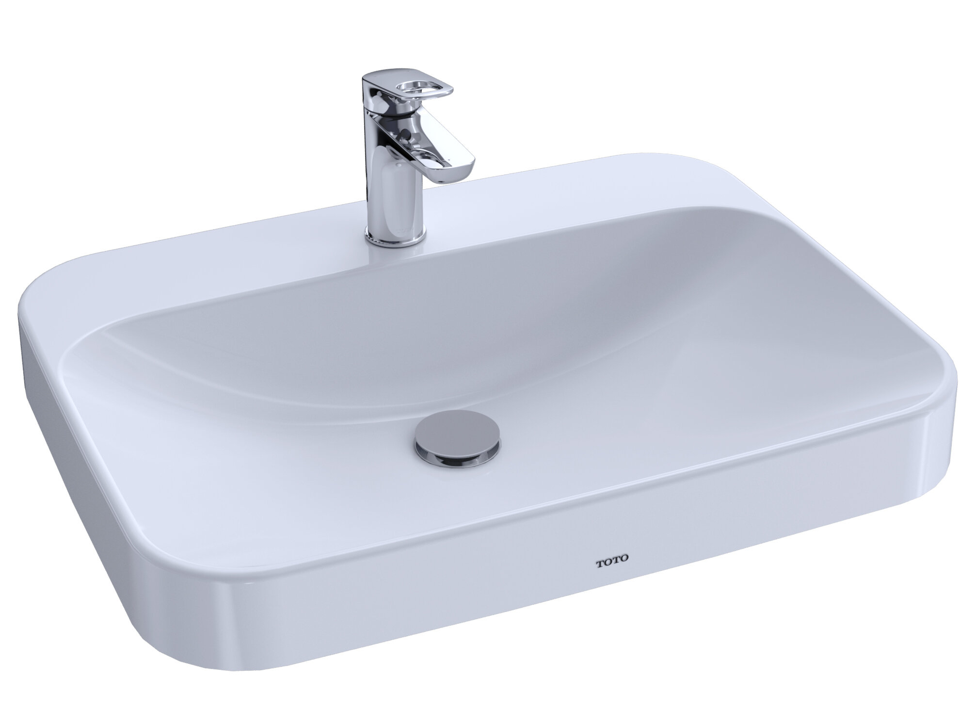 Toto Arvina Vitreous China Rectangular Vessel Bathroom Sink With Overflow Wayfair