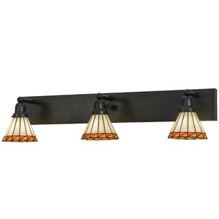 Meyda Tiffany Greenbriar Oak Prairie Mission 3-Light Vanity Light