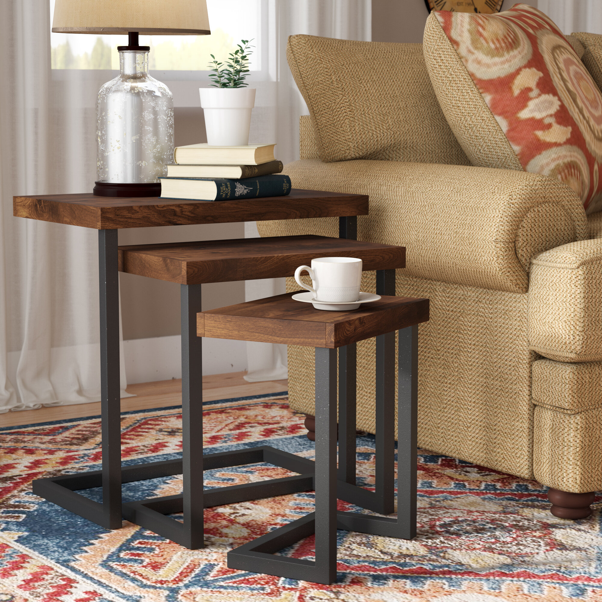 Trent austin design crenata 3 piece nesting tables reviews wayfair watchthetrailerfo