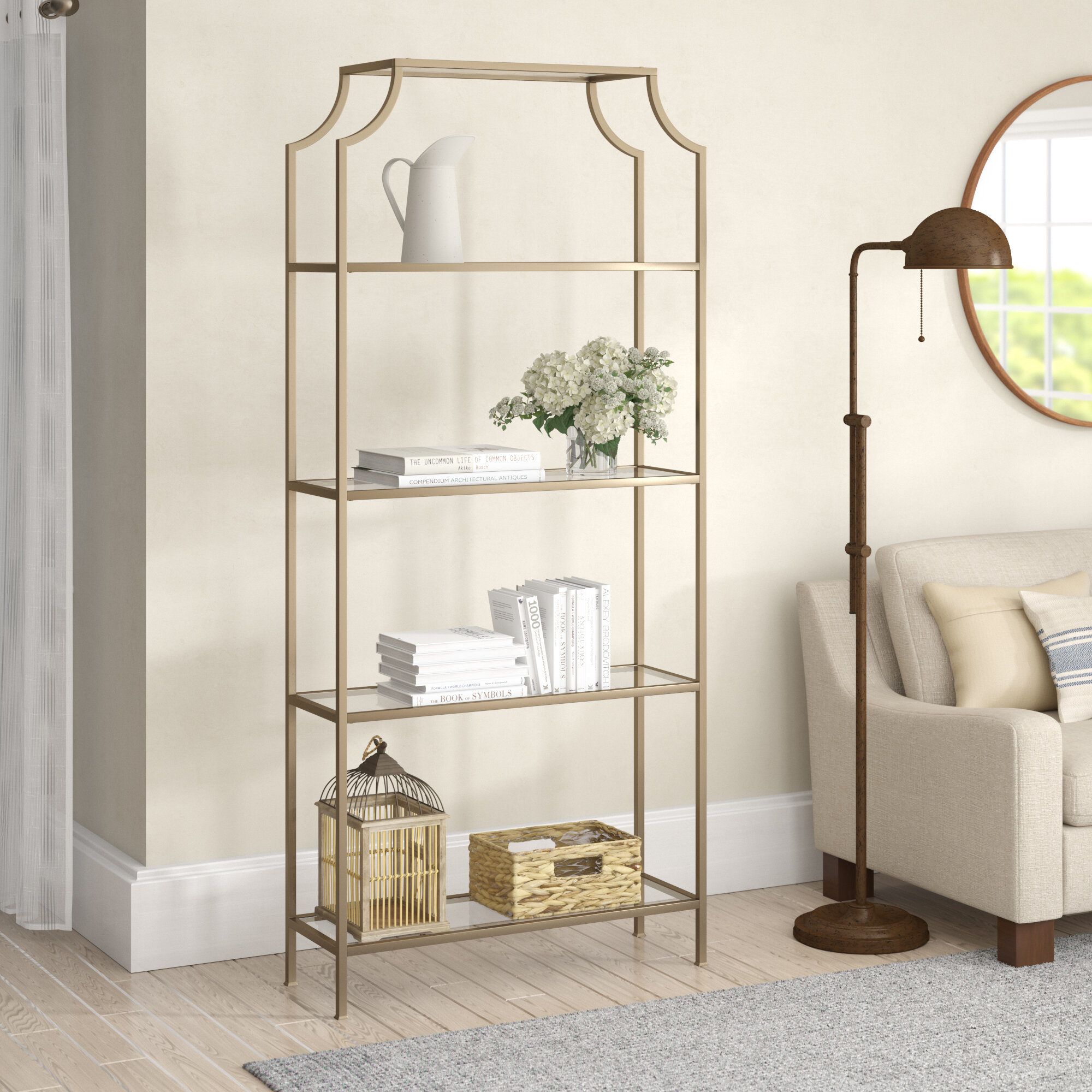 Birch LaneTM Heritage Buchanan Etagere Bookcase Reviews