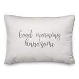 Good Morning Handsome Pillow Wayfair