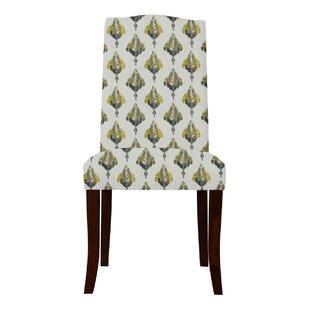 Latitude Run Guttenberg Ferns Parsons Chair (Set of 2)
