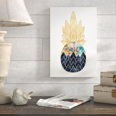Wrought Studio 'Precious Pineapple I' Photographic Print Format: Canvas, Size: 40 H x 26 W x 0.75 D