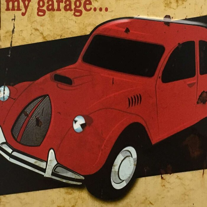 My Garage Rules Vintage Metal Wall Décor