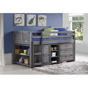 Myrna Single Mid Sleeper Loft Bed With Chest Of Drawers By Harriet Bee