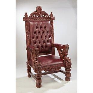 Lorri Mahogany Throne Armchair by Astoria..