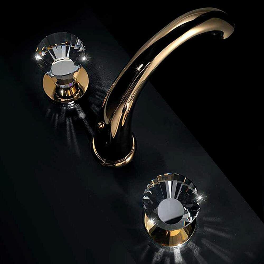 MaestroBath Artik 3 Hole Luxury Widespread Bathroom Faucet | Wayfair