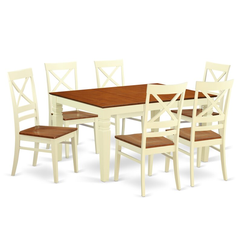 Darby Home Co Annapolis 7 Piece Butterfly Leaf Dining Set Wayfair
