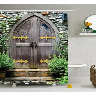 Traditional Fairy Castle Decor Shower Curtain + Hooks