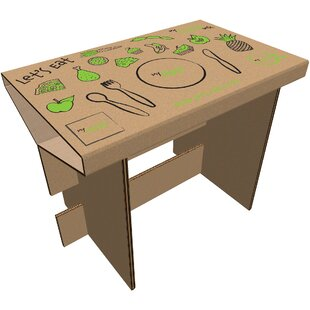 Jacob Let's Eat 80cm W Writing Desk By Zoomie Kids