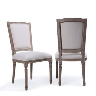 Agda Modern Classic Elegant Upholstered Dining Chair (Set of 2)
