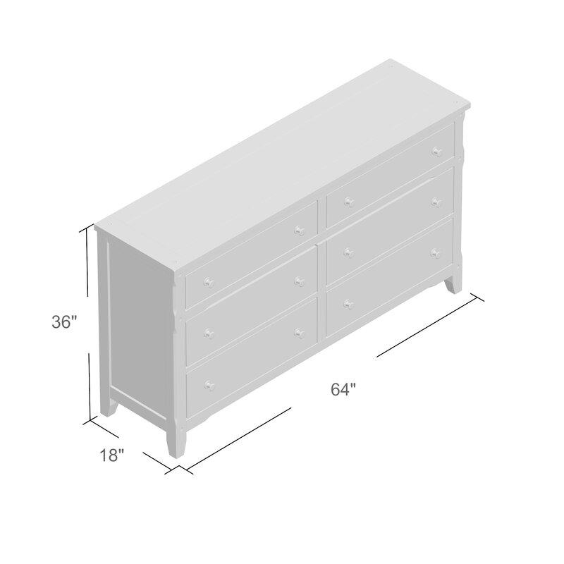 Framingham 6 Drawer Double Dresser