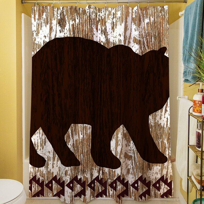 Wilderness Bear Shower Curtain from Wayfair!