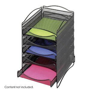Rebrilliant Five Drawer Mesh Literature Organizer