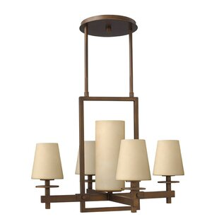 Darby Home Co Machelle 5-Light Shaded Cha..