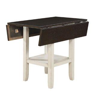 Darvell Dual Tone Solid Wood Pub Table Rosalind Wheeler