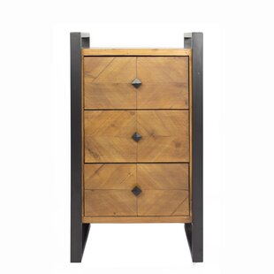 17 Stories Delphine 3-Drawer End Table