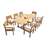 Chaz 9 Piece Teak Dining Set