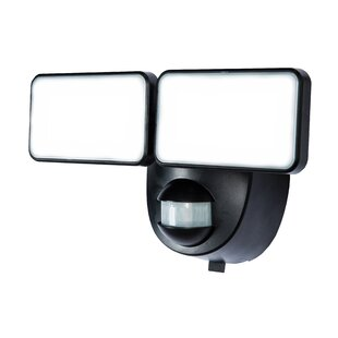 LED Battery Operated Outdoor Security Flood Light with Motion Sensor by Heath-Zenith