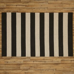 Best Reviews Listette Handwoven Black Indoor/Outdoor Area Rug By Birch Lane™ Heritage