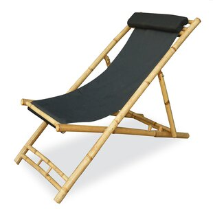 Folding Beach Chair with Cushion (Set of 2)